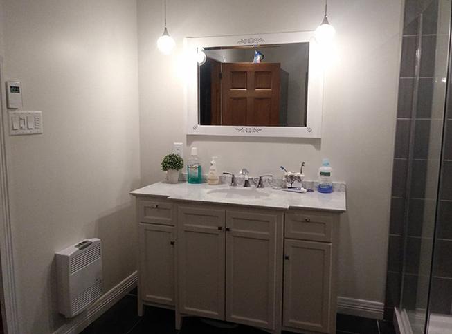 Electricité et chauffage de salle de bain